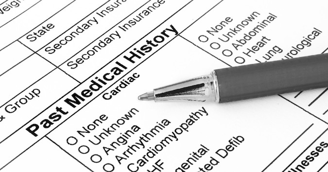 Gastroenterology Patient Medical History